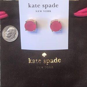 💕♠️Kate Spade pink earrings!! EUC!!